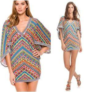 Trina Turk Peruvian Striped Tunic Swim Cover M